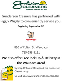 Gunderson Cleaners inside Piggly Wiggly Waupaca
